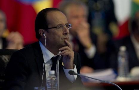 Президент Франции Франсуа Олланд на встрече  G20 в Лос-Кабос, Мексика. Фото: YURI CORTEZ/AFP/GettyImages