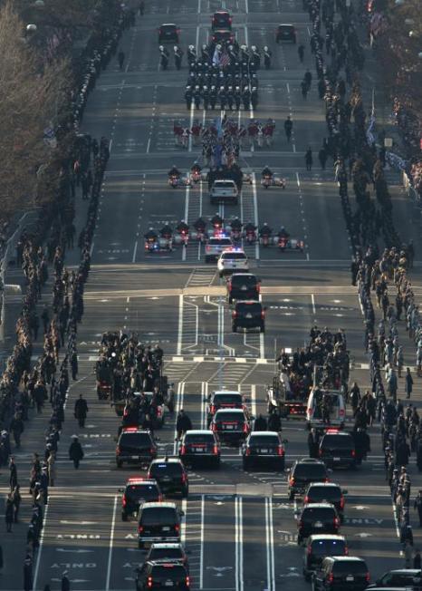 Иннаугурационный парад в Вашингтоне, США, 21 января 2013 года. Фото: Molly Riley-Pool/Getty Images