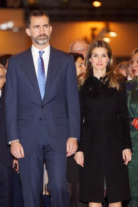 Принц Фелипе и принцесса Летиция на открытии международной ярмарки туризма FITUR, центр Ifema, Мадрид, Испания, 30 января 2013 года. Фото: Carlos Alvarez / Getty Images