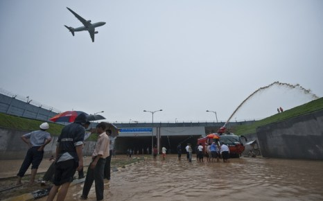 Аэросъёмки помогут в Индии найти пропавших во время наводнения. Фото: PRAKASH SINGH/AFP/GettyImages