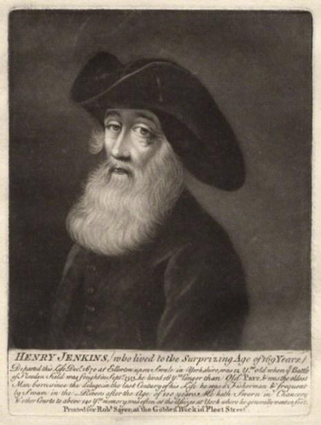 Генри Дженкинс. Фото: Robert Sayer Mezzotint/National Portrait Gallery, London