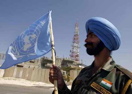 Индийский миротворец. Фото: PATRICK BAZ/AFP/Getty Images