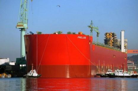 Корабль  «Прелюдия», Южная Корея, 30 ноября. Фото: AP Photo / Shell International NV
