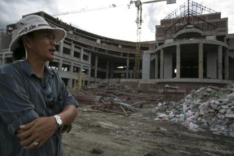 Строительство нового конгресс-центра в Бангкоке, 16 августа 2013 года. Фото: Paula Bronstein/Getty Images