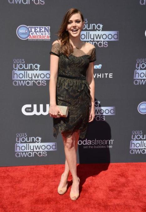 Актриса Эйми Тигарден. Знаменитости прибыли на церемонию «Молодой Голливуд-2013». Фото: Frazer Harrison/Getty Images