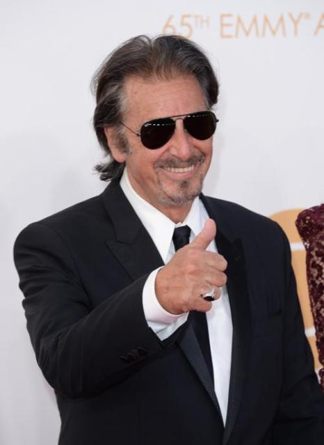 Актёр Аль Пачино прибыл на 65-ю ежегодную церемонию вручения наград «Эмми», которая состоялась в голливудском театре «Нокиа» 22 сентября 2013 года в Лос-Анджелесе, Калифорния (США). Фото: Jason Merritt/Getty Images