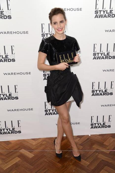 Эмма Уотсон прибыла на церемонию вручения модной премии ELLE в Лондоне 18 февраля 2014 года. Фото: Ian Gavan/Getty Images