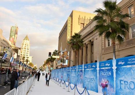 Премьера мультфильма «Холодное сердце» от анимационной компании «Уолт Дисней» в Голливуде 19 ноября 2013 года. Фото: Frazer Harrison / Getty Images
