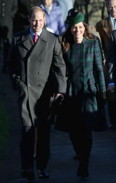 Принц Уильям и герцогиня Кембриджская Кэтрин посетили Сандрингем 25 декабря 2013 года. Фото: Chris Jackson / Getty Images