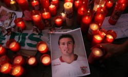 футбол, футболист, свечи, Антонио Пуэрта