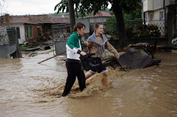 Паводок, наводнение, Болгария