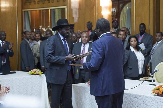 Салва Киир, Риек Машар, Южный Судан, мирные переговоры, создание переходного правительства
