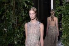 Феи из сказочного леса появились на показе новой коллекции Valentino в Париже