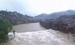После ливней древний китайский город уходит под воду
