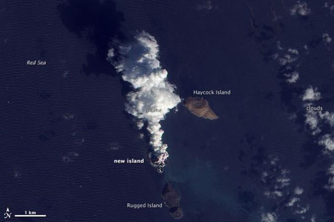 В Красном море появились два новых острова