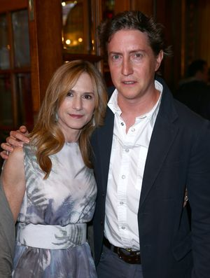 """TORONTO, ON - SEPTEMBER 06:  Actress Holly Hunter and director David Gordon Green attend the """"Manglehorn"""" Premiere during the 2014 Toronto International Film Festival at Winter Garden Theatre on September 6, 2014 in Toronto, Canada.  (Photo by Leonard Adam/Getty Images)"""