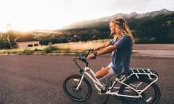 велосипед, девушка, дорога