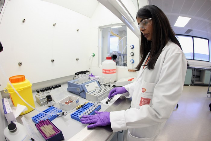 HARLOW, ENGLAND - JANUARY 19: Analyst Jignasha Patel prepares a sample for testing in the anti-doping laboratory which will test athlete?s samples from the London 2012 Games on January 19, 2012 in Harlow, England.The facility, which will be provided by GSK and operated by King?s College London, will test over 6250 samples throughout the Olympic and Paralympic Games. Over 150 anti-doping scientists will work in the laboratory, which measures the size of seven tennis courts, 24 hours a day. (Photo by Oli Scarff/Getty Images)