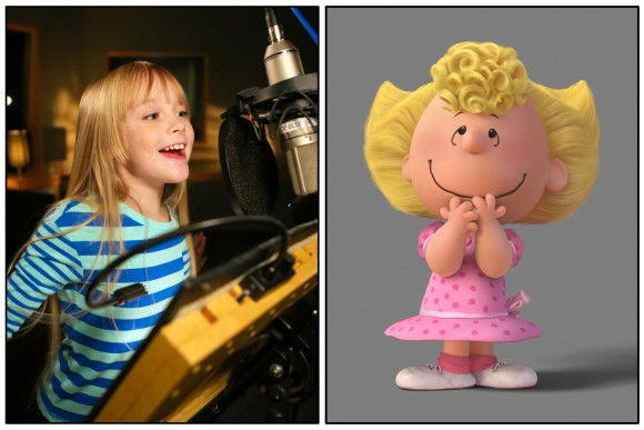 Mariel Sheets озвучивает Салли. (Jamie Midgley/Twentieth Century Fox & Peanuts Worldwide LLC – Twentieth Century Fox Film Corporation)