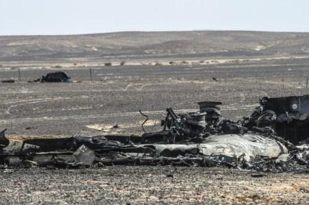 Останки самолёта A321. Фото: KHALED DESOUKI/AFP/Getty Images