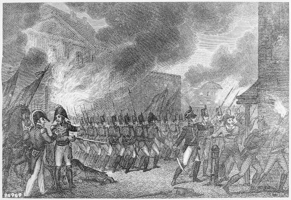 «Захват Вашингтона», гравюра 1814 г. из книги «История Англии». Фото: Public Domain
