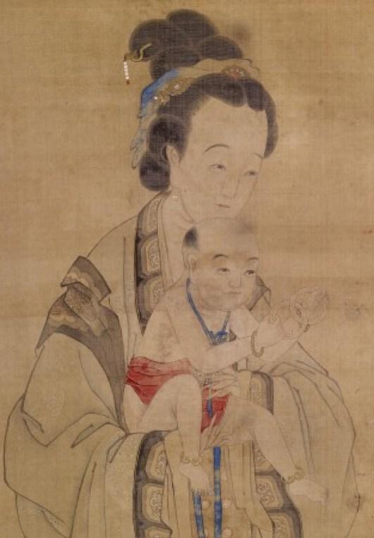 Мать представляет ребёнка в храме. Китайская живопись XVIII века. Фото: Музей искусств Walters/Великая Эпоха