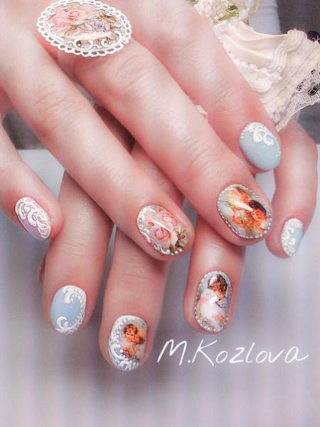 Барельеф на ногтях. модный дизайн