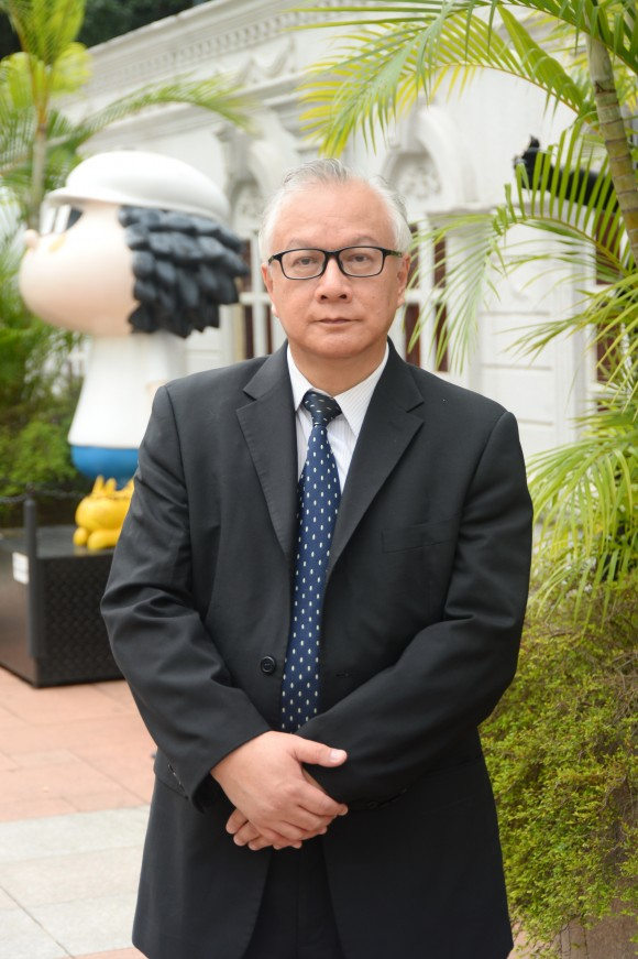 Кан Хун-чун, представитель гонконгской ассоциации Фалунь Дафа. Фото: Sung Cheong-lung/Epoch Times