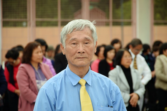 Г-н Лин, один из помощников организаторов конференции Фалунь Дафа в Гонконге. Фото: Sung Cheong-lung/Epoch Times