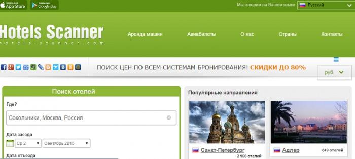 Скриншот с сайта ru.hotels-scanner.com