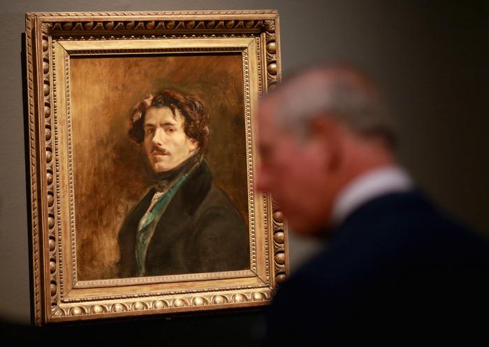 Автопортрет Делакруа на выставке в Лондоне. Фото: Chris Jackson-WPA Pool/Getty Images