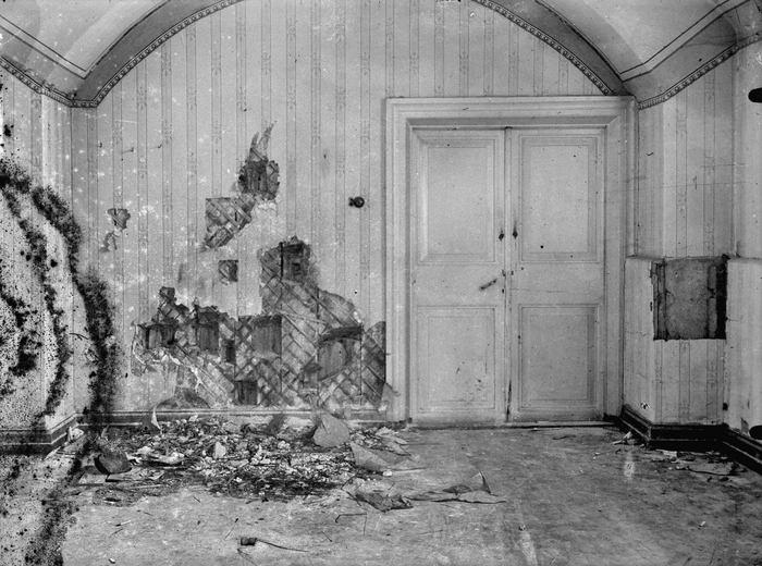 Подвал Ипатьевского дома после расстрела царской семьи. Фото: wikipedia.org/public domain