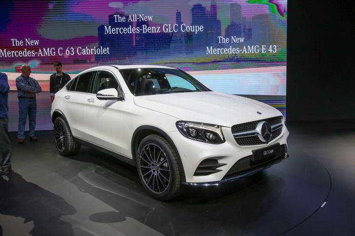 Новый Mercedes-Benz GLC Coupe 23 марта 2016 года представлен на Нью-Йоркском международном автосалоне. Фото: Бенджамин Частин/Великая Эпоха