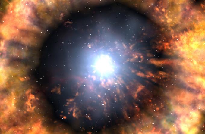 Вспышка сверхновой. Фото: NASA