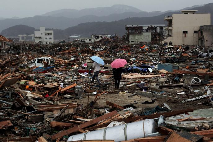 Последствия землетрясения и цунами 2011 года. Фото: Chris McGrath/Getty Images