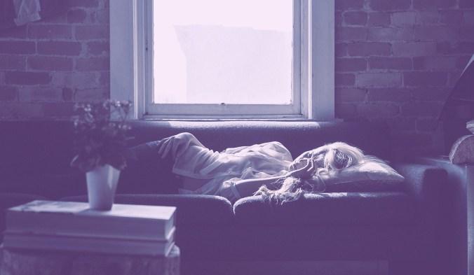 сон, девушка, бессоница