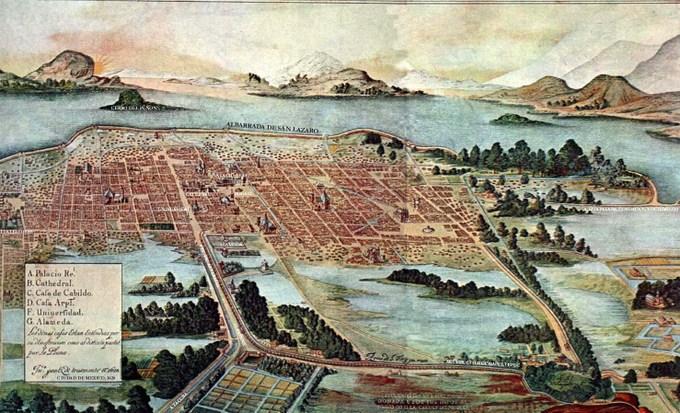 Мехико в 1628 году