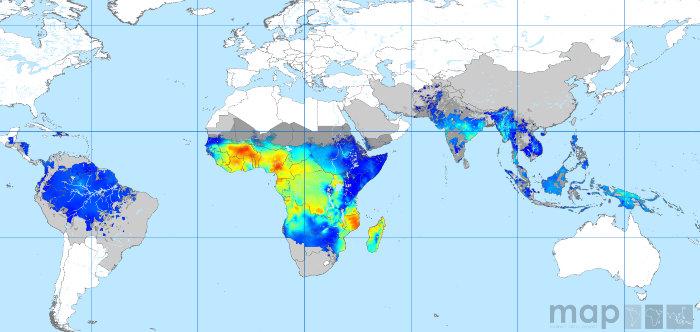 малярия, укус комара