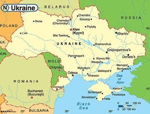 Карта Украины. Фото с сайта cooler-online.com