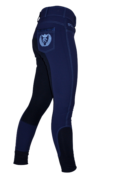 Blue fullseat breeches