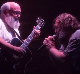 Tenacious D performing at The Riviera Theatre in Chicago on Nov. 14, 2018