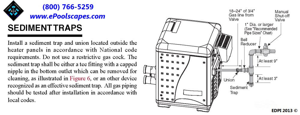 medium resolution of additionally the pool spa heater gas pipe connection will include a