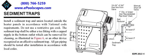 small resolution of additionally the pool spa heater gas pipe connection will include a