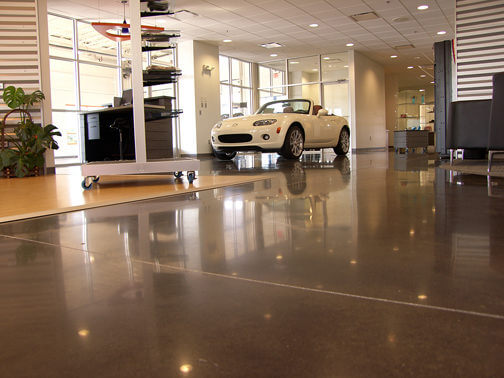 Concrete Stain Application  Benefits of Stained Concrete Floors