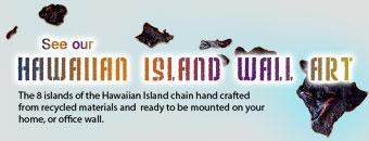 Hawaiian Islands Wall Art Bannere