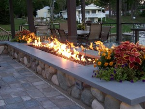 concrete fireplace / fire feature, Vero Beach, FL