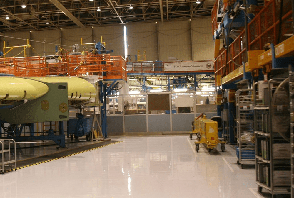 A factory with heavy machines.