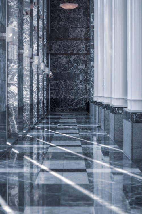 a shining epoxy floor