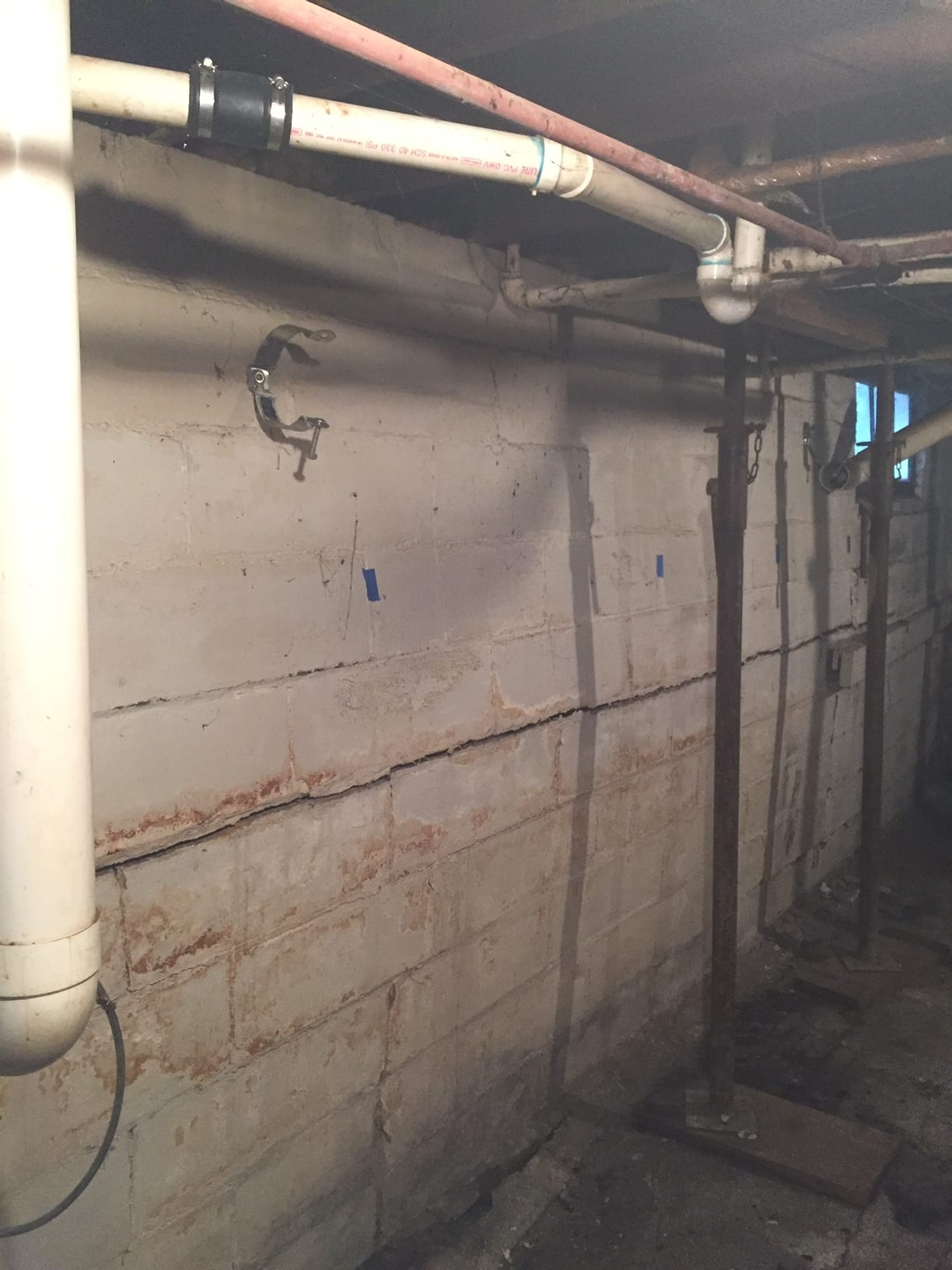 Structural Crack - Bowing basement wall