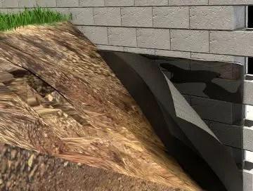 exterior basement waterproofing membrane
